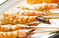 Grilled Garlic Shrimp Skewers Recipe