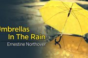 Umbrellas In The Rain by Ernestine Northover