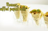 Paneer stuffed papad rolls