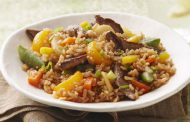 Fried Rice with Ham and Beans