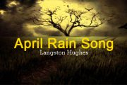 April Rain Song by Langston Hughes
