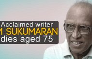 Noted writer M. Sukumaran passes away