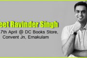 Bestselling Indian author Ravinder Singh arrives at DC Books