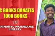 DC Books donates 1000 titles to Abhimanyu Maharaja's Library