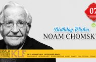 Birthday wishes to Noam Chomsky