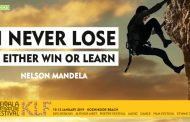 """I never lose, I either win or learn"""