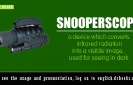 Word of the Day- Snooperscope
