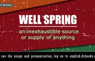 Word of the Day: Wellspring