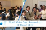 World Water Day observed on 22 March 2019 at DCSMAT
