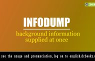 Word of the Day: infodump