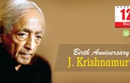 Birth Anniversary of J. Krishnamurti