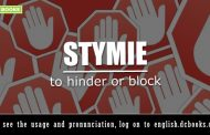 Word of the Day: stymie