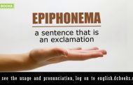 Word of the Day: epiphonema