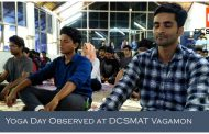 International Yoga Day Celebrated at DCSMAT