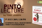 14th Pinto Lecture by Tony Joseph