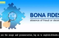 Word of the Day: bona fides