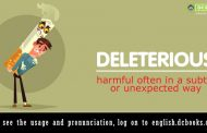 Word of the Day: deleterious