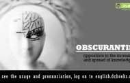 Word of the Day: obscurantism