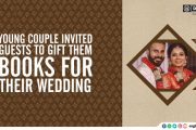 Meaningful Gifts: Young couple invited guests to gift them books for their wedding