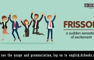 Word of the Day: frisson