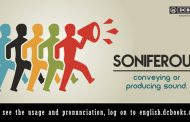 Word of the Day: soniferous