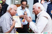 Dr. K Rajasekharan Nair receives the Alumini Award of Trivandrum Medical College