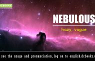 Word of the Day: nebulous
