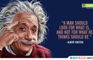 """A man should look for what is, and not for what he thinks should be."""
