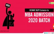 DCSMAT GD/PI Schedule for FOR MBA ADMISSION 2020 BATCH